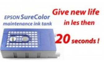 Revive EPSON surecolor maintenance ink tank in less than 20 seconds !
