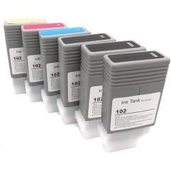 CANON PFI-102 Compatible Black and Color Ink Cartridge