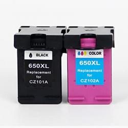 HP 650 Black and Color Compatible Ink Cartridge