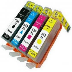 HP 655 Black and Color Compatible Ink Cartridge