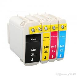 HP Compatible Black and Color Ink Cartridge N ° 940 XL